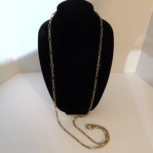 "Monet Necklace Long Gold Chain 55"""